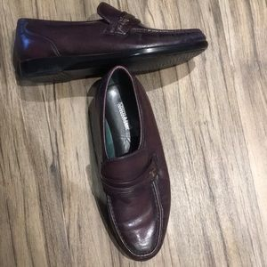 Joseph and Feiss ox blood brown loafers